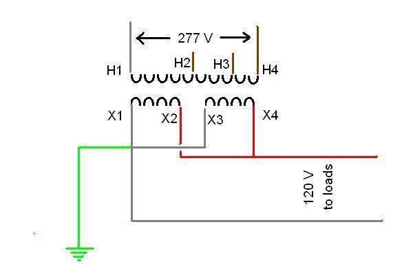 xfrmer 277v wiring diagram wiring diagram and schematic design step down transformer 480v to 120v wiring diagram at edmiracle.co